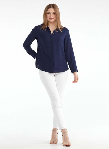 Sementa Kadın Klasik Gömlek - Lacivert Lacivert